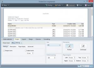 Folder2List 3.15.0 - náhled