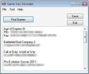 Game Key Revealer 1.4.6 - náhled