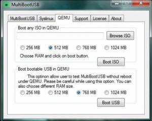 MultiBoot USB 8.7.0 - náhled