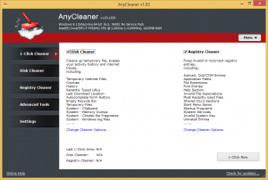 AnyCleaner 1.04 - náhled