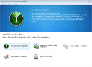 AppleXsoft Hard Drive Copy 3.0.3.1 - náhled