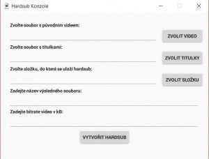 Hardsub Konzole - náhled