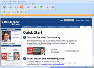 Livechat Contact Center 5.7.1.17 - náhled