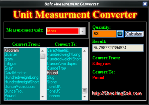 Unit Measurement Converter 2.0.0.85 - náhled