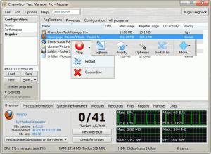 Chameleon Task Manager Trial 4.0.0.739 - náhled
