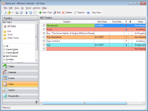 Efficient Calendar 5.22 Build 526 - náhled