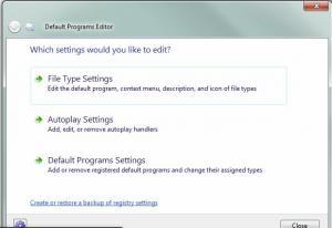 Default Programs Editor 2.7 - náhled