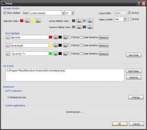 Alternative Windows Console 2.0.38 - náhled