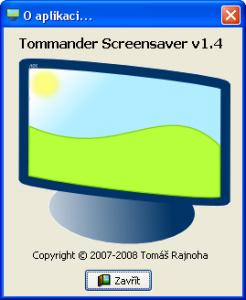 Tommander Screensaver Samorozbalitelný archív ZIP 1.4 - náhled