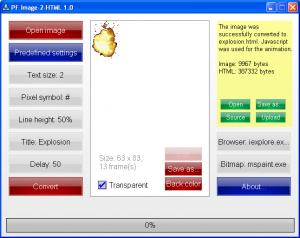PF Image-2-HTML 1.0 - náhled