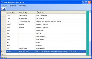 SMS zkratky 1.0.1.0 - náhled