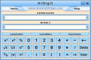 HiDigit 1.1 - náhled