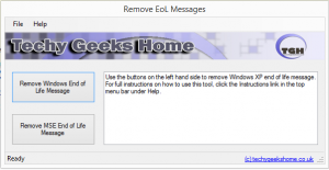 Remove Windows XP End of Life 1.0 - náhled