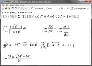 Math Editor 1.0.6.5 - náhled