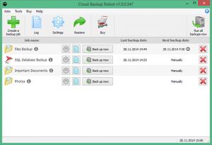 Cloud Backup Robot 1.0.0 - náhled