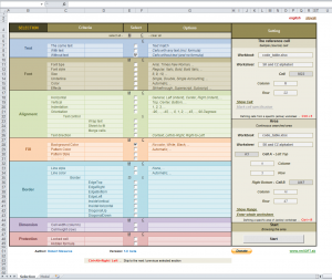 Sofistikovaný výběr buněk v Excelu 1.1 - náhled