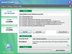Secure Eraser 4.200 - náhled