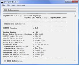 CrystalDMI 1.0.5 - náhled