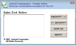 Jashsoft Cryptographer - Portable Edition - náhled