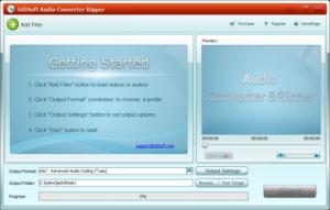 GiliSoft Audio Converter Ripper 4.1 - náhled
