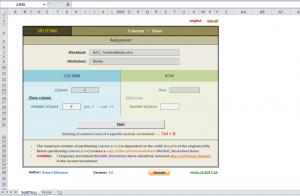 Rozdělení sloupců a řádků v Excelu 1.1 - náhled