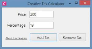 Creative Tax Calculator 1.0 - náhled