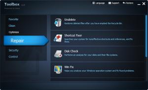 IObit Toolbox 1.2 - náhled