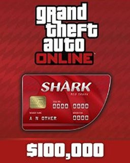 Grand Theft Auto V Online Red Shark Cash Card 100,000$ GTA 5 - Plná verze - 1 licence
