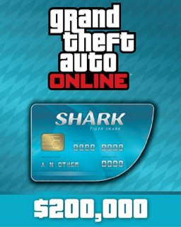 Grand Theft Auto V Online Tiger Shark Cash Card 200,000$ GTA 5 - Plná verze - 1 licence