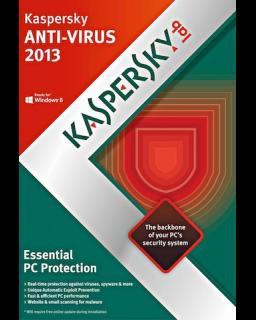 Kaspersky AntiVirus 2016, 3 lic. 1 rok