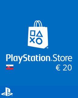 PlayStation Live Cards 20 Euro - Plná verze - 1 licence
