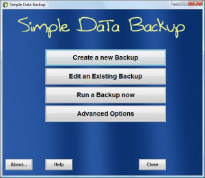 Simple Data Backup - náhled