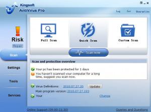 Kingsoft Antivirus - náhled