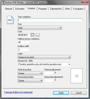 BullZip PDF Printer - náhled