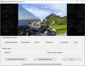 Restore Windows Photo Viewer - náhled