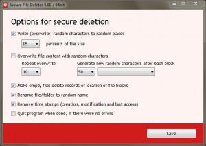 Secure File Deleter - náhled