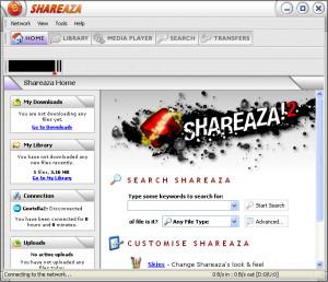 Shareaza - náhled