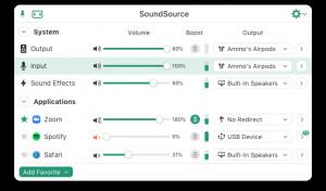 SoundSource - náhled