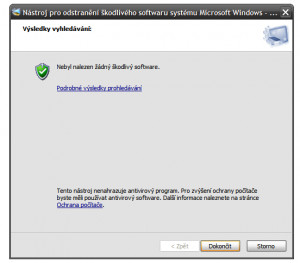 Malicious Software Removal Tool - náhled