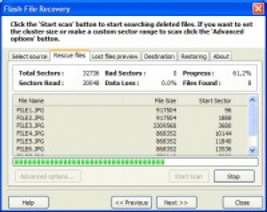 Flash File Recovery - náhled