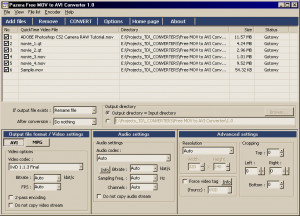 Pazera Free MOV to AVI Converter - náhled