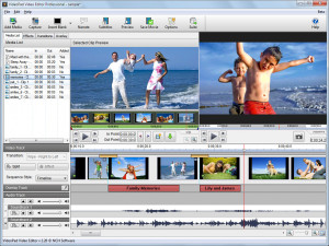 VideoPad Video Editor - náhled