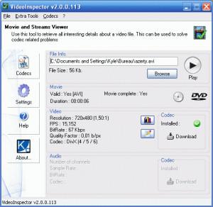 VideoInspector - náhled