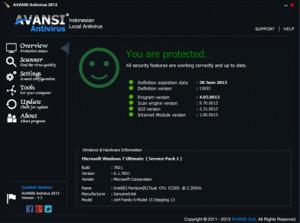 Avansi Antivirus 2013 - náhled
