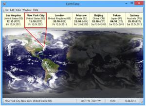 EarthTime - náhled
