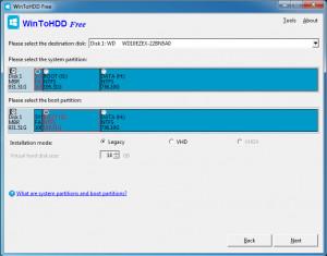 WinToHDD - náhled