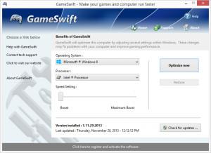 GameSwift - náhled
