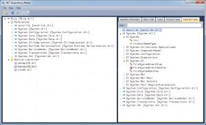 .NET Dependency Walker - náhled