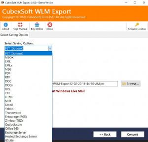 CubexSoft WLM Export - náhled