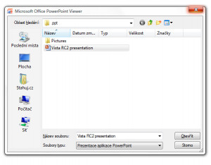 Microsoft PowerPoint Viewer - náhled